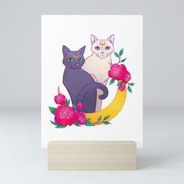 Luna and Artemis. Sailor Moon cats Mini Art Print
