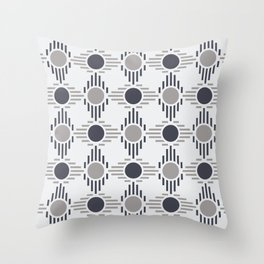 Geometric Pattern. Circles and Rhombuses Throw Pillow