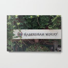 Habersham Winery Sign Metal Print