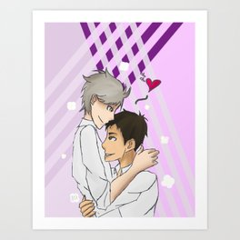 Haikyuu, Daichi Sawamura and Koushi Sugawara Love Art Print