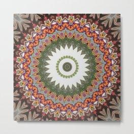 New Color Pyramidal Mandala 32 Metal Print