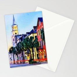 French Quarter at Dawn, Charleston, South Carolina Portrait Stationery Cards