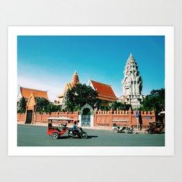 phnom penh city Art Print