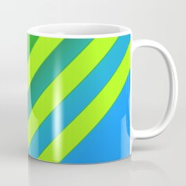 Sky & Lime Chevron Coffee Mug