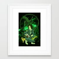 ripley Framed Art Prints featuring Ripley by Ginger Breo