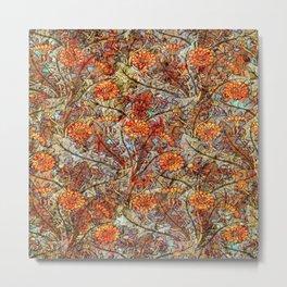 Marigold Pattern Metal Print