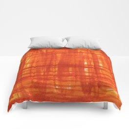 Red Orange Strokes Comforters