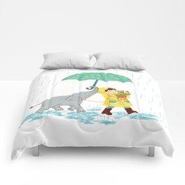 boy & elephant Comforters