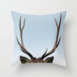 Stag antlers Throw Pillow