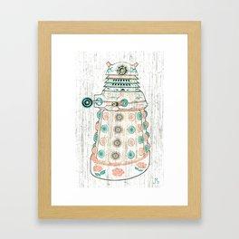 Dia de los Daleks Framed Art Print