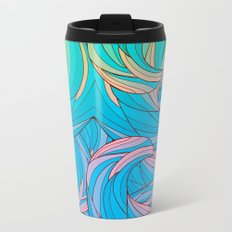 Sun Light Waves Metal Travel Mug