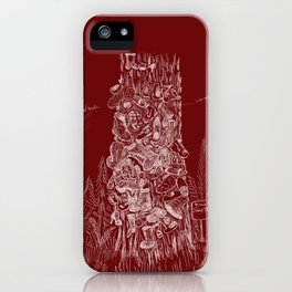Shoetree in Deep Red iPhone Case