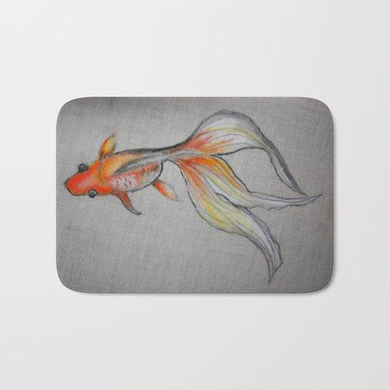 Goldfish Pond (close up #6) Bath Mat