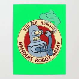 Benders Robot Army! Poster