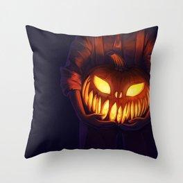 Jack'o'Lantern (#Drawlloween2016 Series) Throw Pillow