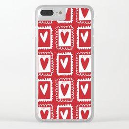 Send My Love Clear iPhone Case