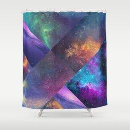 Galaxy Collage Shower Curtain