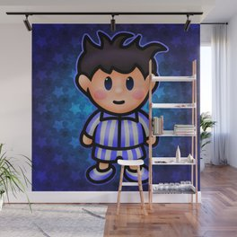Ness in Pajamas Wall Mural