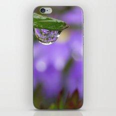 Smiling Drop in Purple iPhone & iPod Skin