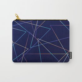 Holographic Lines Carry-All Pouch