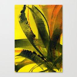 Yellow Plant Life Canvas Print