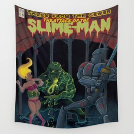 Tales from the sewer Attack of the Slime Man! Wall Tapestry