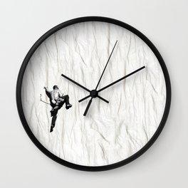 Climbing a Wrinkle Wall Clock