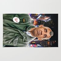 taxi driver Area & Throw Rugs featuring Obama taxi driver by IvándelgadoART