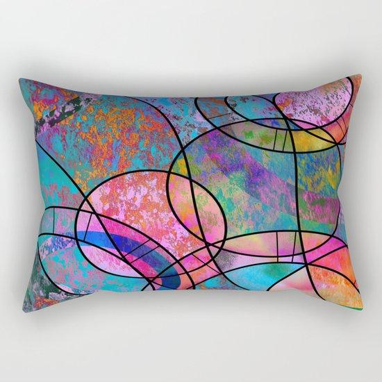 Vibrant Circles Rectangular Pillow