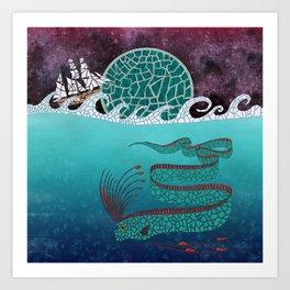 Ore Fish Mosaic Art Print