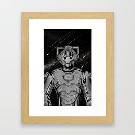 Cyberman Framed Art Print