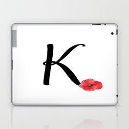 Monogram K - Red Poppy Laptop & iPad Skin