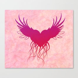 Give wings to my heart Canvas Print