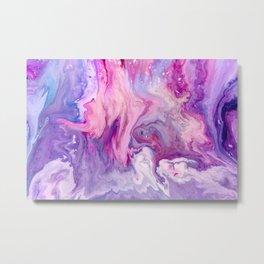 Pink Purple agate mineral gem stone Metal Print
