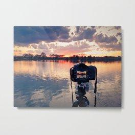Shooting The Sunset Metal Print