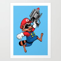Super Rocket Art Print