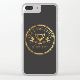 Mother's day golden trophy Clear iPhone Case