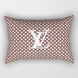 LV Polka Pattern Brown Rectangular Pillow