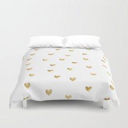 Gold Heart Duvet Cover