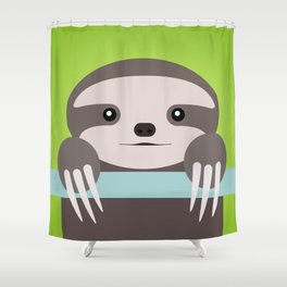 Sloth Baby Shower Curtain
