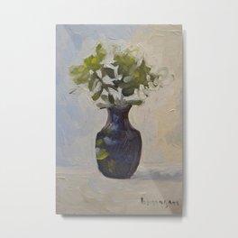 Green Flower Painting Metal Print