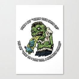 Zombie Hands Canvas Print