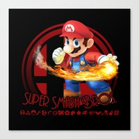 super smash bros Canvas Prints featuring Mario - Super Smash Bros. by Donkey Inferno