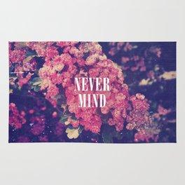 Pink Roses Soft Grunge Never Mind Rug