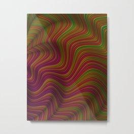 Wavy Waves Metal Print
