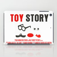 toy story iPad Cases featuring Toy Story Movie Poster by FunnyFaceArt