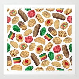 Italian Cookie Pattern Art Print