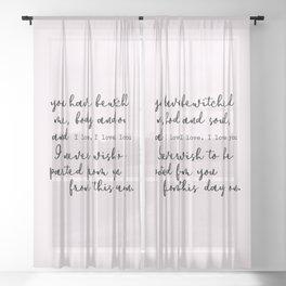 Pride and Prejudice Sheer Curtain