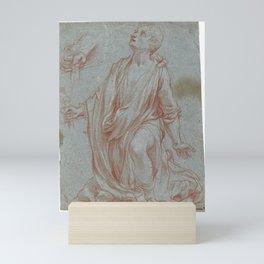 Francesco Vanni SIENA 1563 - 1610  STUDY FOR THE KNEELING FIGURE OF ST. GALGANO Mini Art Print