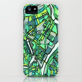 Abstract Map- Lowell MA iPhone Case